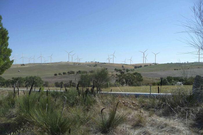 Proposed Crystal Brook wind turbines