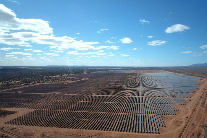 Bungala solar power plant near Port Augusta in South Australia