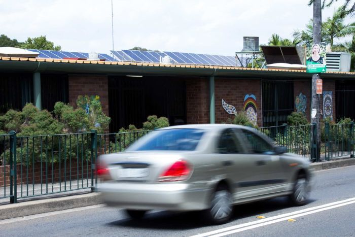 Solar panels on Tempe Public School roof