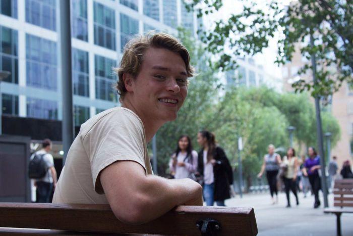 Kal Glanznig sitting on a bench